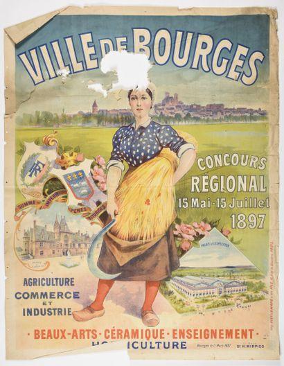 Ville de Bourges, exposition de 1897,  VIELLEMARD...