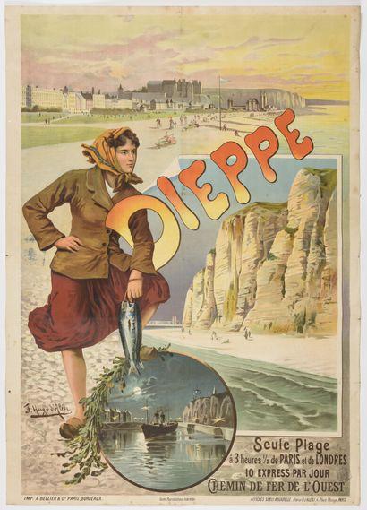 Ugo d'Alesi Dieppe, chemin de fer de l'ouest...