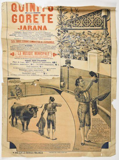 MOYANO, affiche de corida, ortega Valencia...
