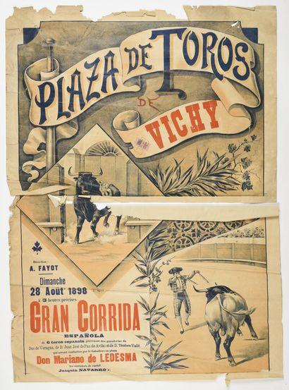 Plaza de Toros Vichy, avec cachet et timbre,...
