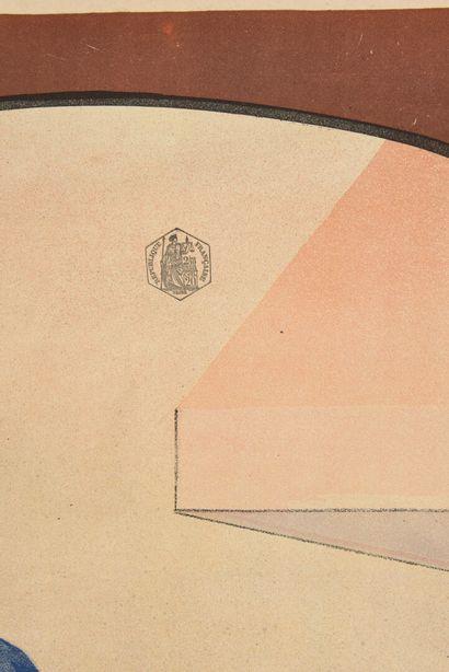 LIEBIG  Affiche en trois parties, complète  Camis  Cachet  130 x 100 cm pour chaque...