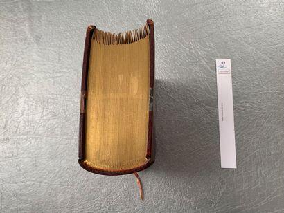 Emile Zola. L'Assommoir. 1 volume in-8, demi-reliure à coins en cuir (chagrin)....