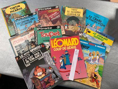 [Bandes-dessinées]. 11 albums dont Tintin,...