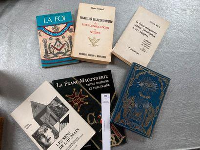 [Franc-maçonnerie]. 6 volumes, dont: Manuel...