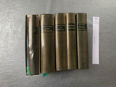 [La Pléiade]. Ensemble de 5 volumes: Michelet,...