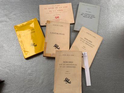 [Chine]. 6 volumes, dont: Mémoires sur les...