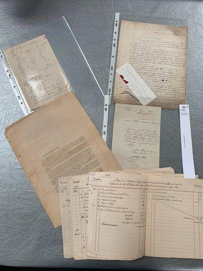 [Franc-maçonnerie]. 5 documents franc-maçonniques...