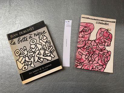 Jean Dubuffet. Un ensemble de 2 ouvrages:...