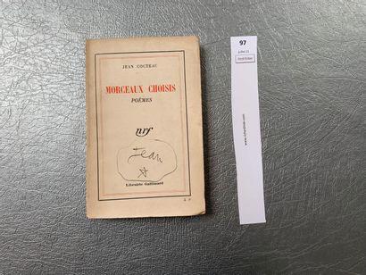 Jean Cocteau. Morceaux choisis, poèmes. Gallimard,...