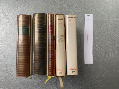 [La Pléiade]. Ensemble de 5 volumes: Proust,...