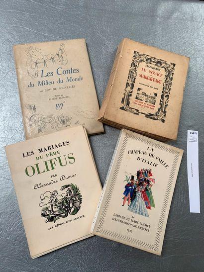 [Illustrés modernes]. Un ensemble de 4 volumes:...