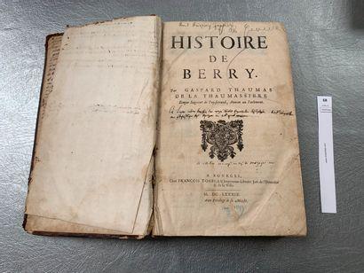 Thaumas de la Thaumassière (Gaspard). Histoire...