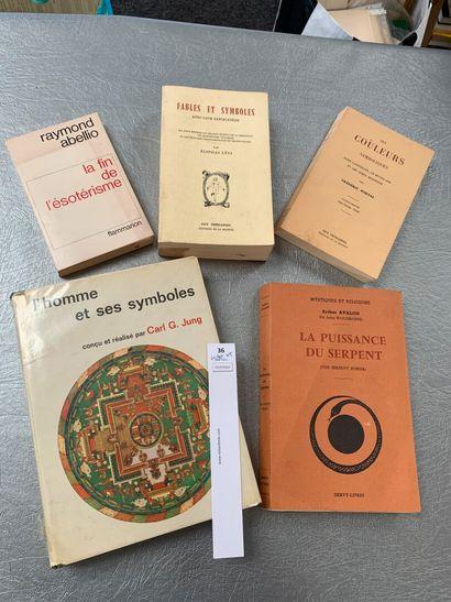 [Esotérisme]. 5 volumes, dont: Fables et...
