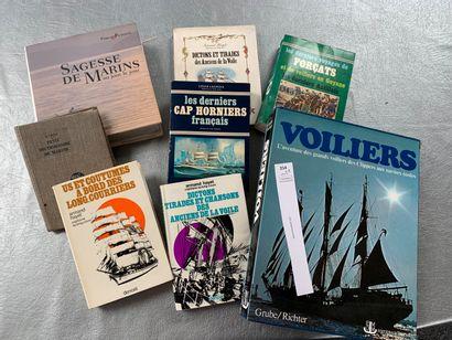 [Marine]. 8 volumes sur la marine.