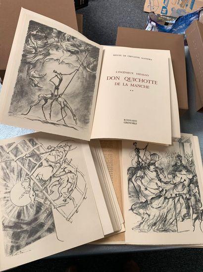 Don Quichotte. 3 volumes in-folio en feuilles...