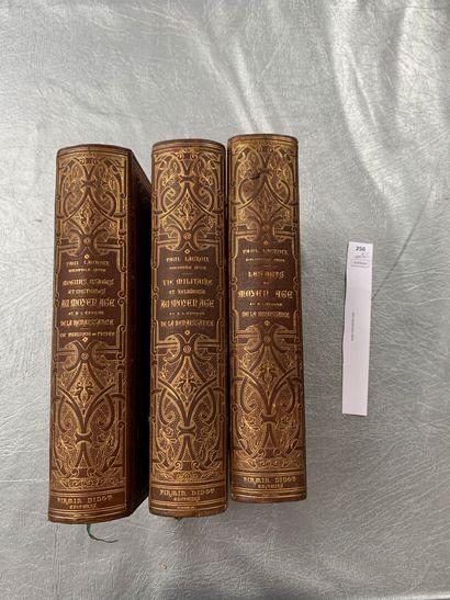 Paul Lacroix. 3 volumes in-4 reliés cuir,...