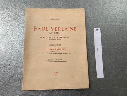 Ph. Zilcken. Paul Verlaine Lettres à propos...