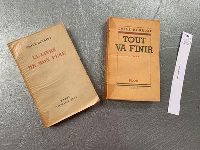 Emile Henriot. Un ensemble de 2 ouvrages...