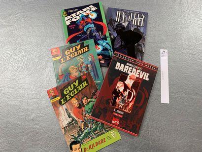 [Bandes-dessinées]. 5 comics, dont: Guy...