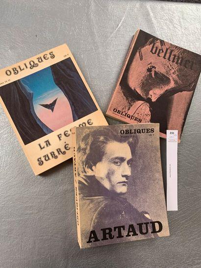 Obliques. 3 volumes: Artaud; La femme surréalisteet...