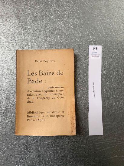 René Boylesve. Les bains de Bade. Frontispice...