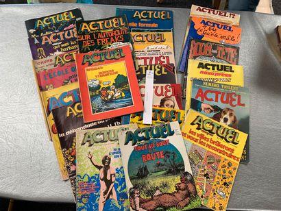 Actuel Novapress. 22 numéros. (1970 à 19...