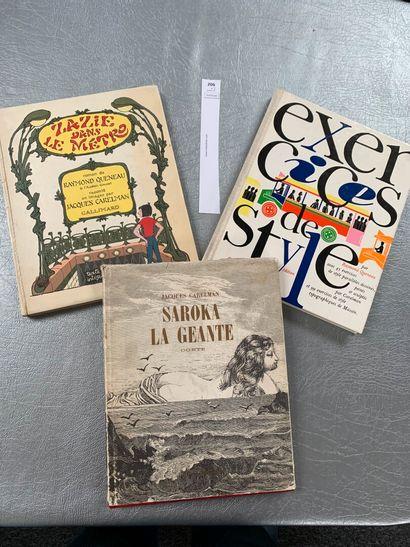 Un ensemble de 3 volumes illustrés par Carelman...