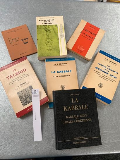 [Kabbale]. 7 volumes divers, dont: Le Talmud;...