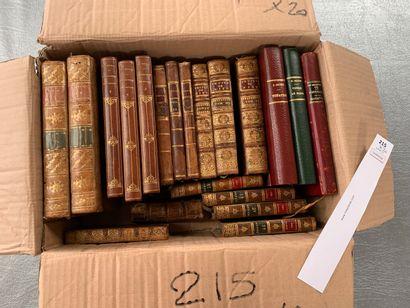 Un ensemble de 20 volumes reliés cuir du...