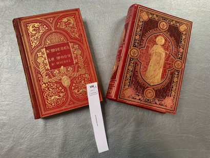 Un ensemble de 2 ouvrages XIXe bien reliés:...