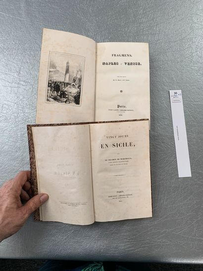[Italie]. Un ensemble de 2 volumes: Vingt...