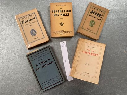 C. F. Ramuz. Un ensemble de 5 volumes brochés....