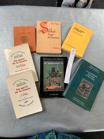 [Esotérisme]. 7 volumes, dont: Sabbat, Juges...