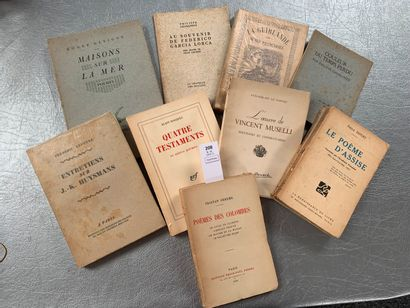[Poésie] Ensemble de 10 volumes avec envoi...