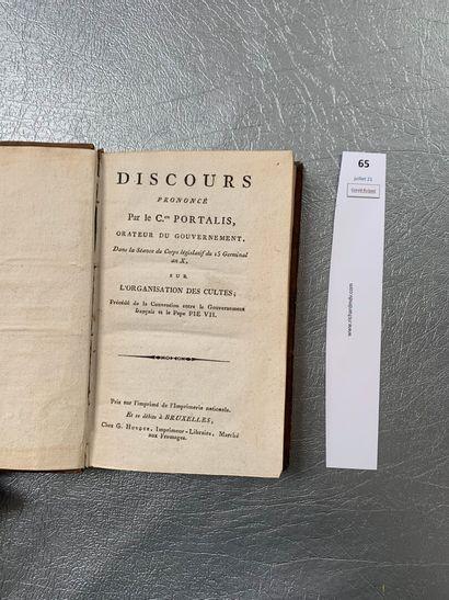 PORTALIS (Joseph-Marie): Organisation des...