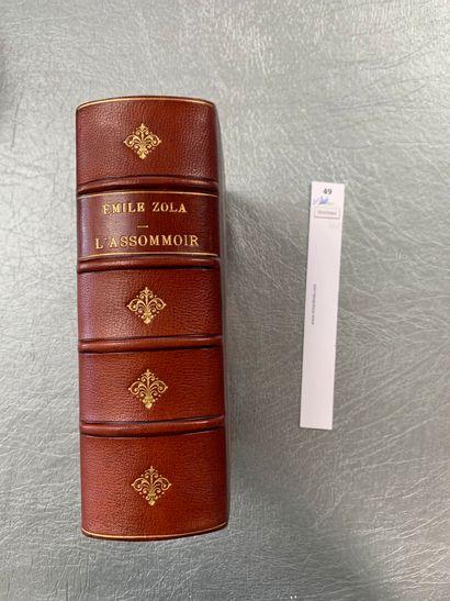 Emile Zola. L'Assommoir. 1 volume in-8, demi-reliure...