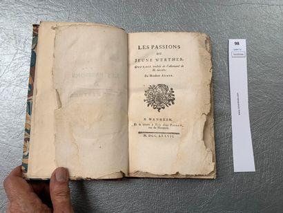 [Goethe]. Les Passions du Jeune Werther....