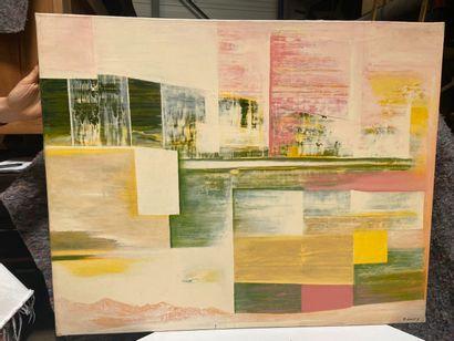 Michel REMERY  L'oeil du cyclope fatigué  huile sur toile, 2002  Signée en bas à...
