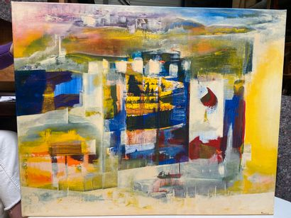 Michel REMERY  Le bateau ivre 3  huile sur toile, 2001  Signée en bas à droite  65...
