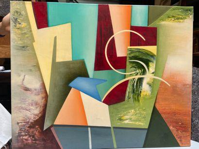 Michel REMERY  huile sur toile  Signée en bas à droite  65x81 cm
