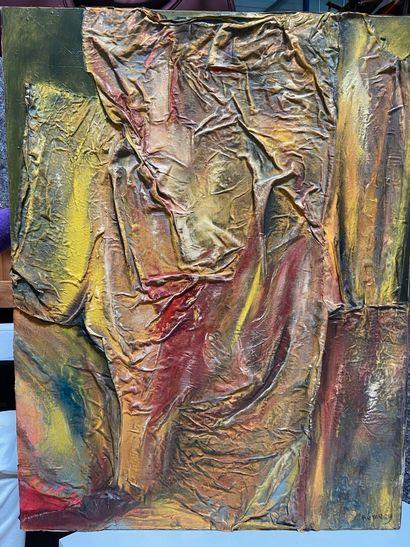 Michel REMERY  Juillet aux arènes  technique mixte sur toile, 2003  Signée en bas...