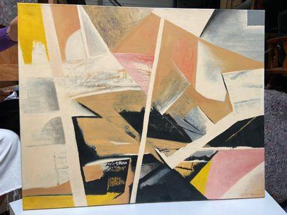 Michel REMERY  Composition n°1  huile sur toile, 2004  Signée en bas à droite  65x81...