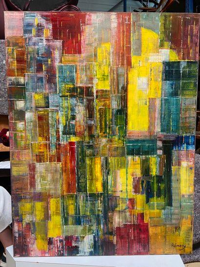 Michel REMERY  Mars brisés par un instant de lumière  huile sur toile, 1987  signée...