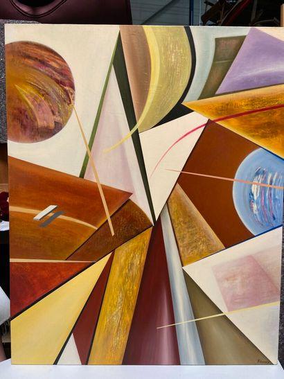 Michel REMERY  huile sur toile, 2010  Signée en bas à droite  100x81cm