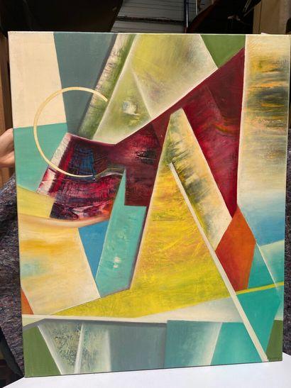 Michel REMERY  huile sur toile  Signée en bas à droite  80 x 65 cm