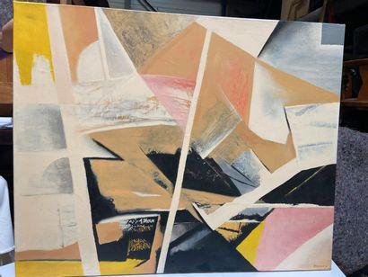 Michel REMERY  Composition n°1  huile sur...