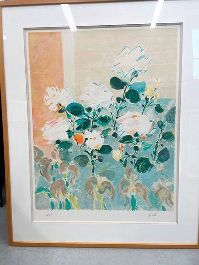 Goniti  Bouquet de fleurs  Lithographie  Numérotée...