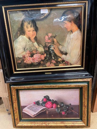 F BECK  Bouquet de camélia  Huile sur toile...