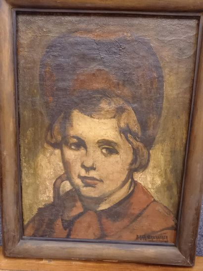 Barth Verschaeren (belge, 1888 1946)  Portrait...