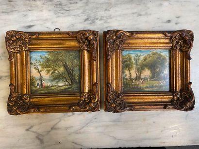 AIREL  Deux miniatures  7.5 x 9 cm